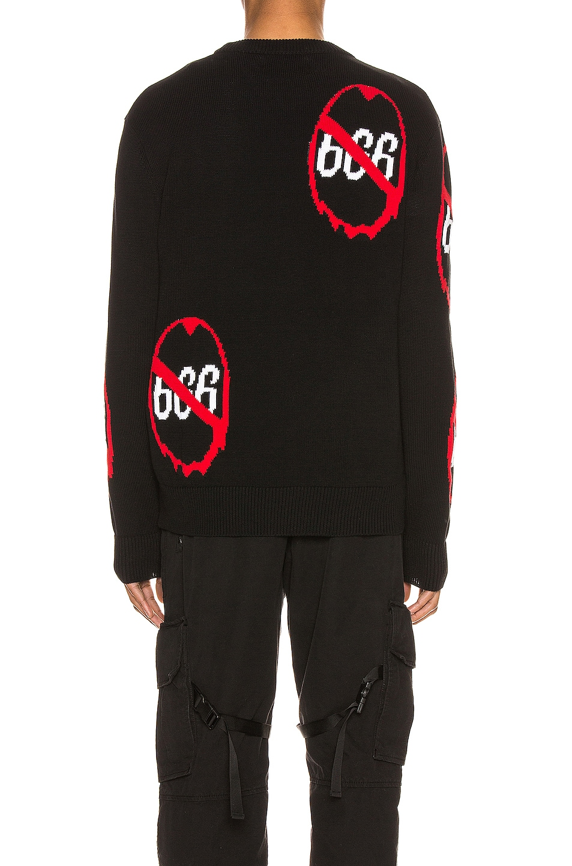 Image 4 of Who Decides War by Ev Bravado Anti 666 Knit Pullover in Black