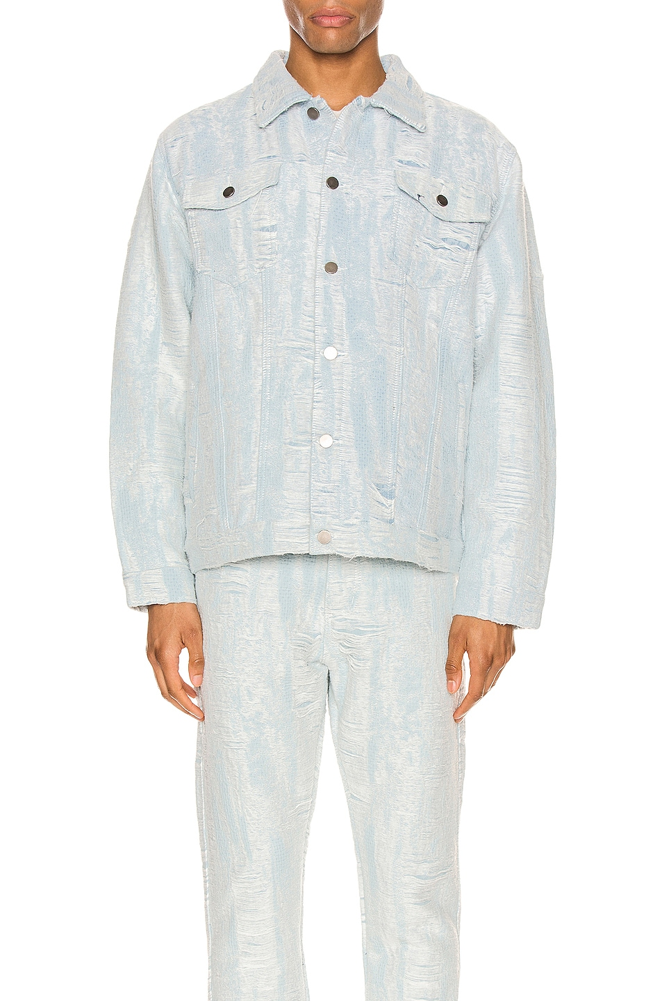 Image 2 of Who Decides War by Ev Bravado Distressed Storm Denim Jacket in Denim