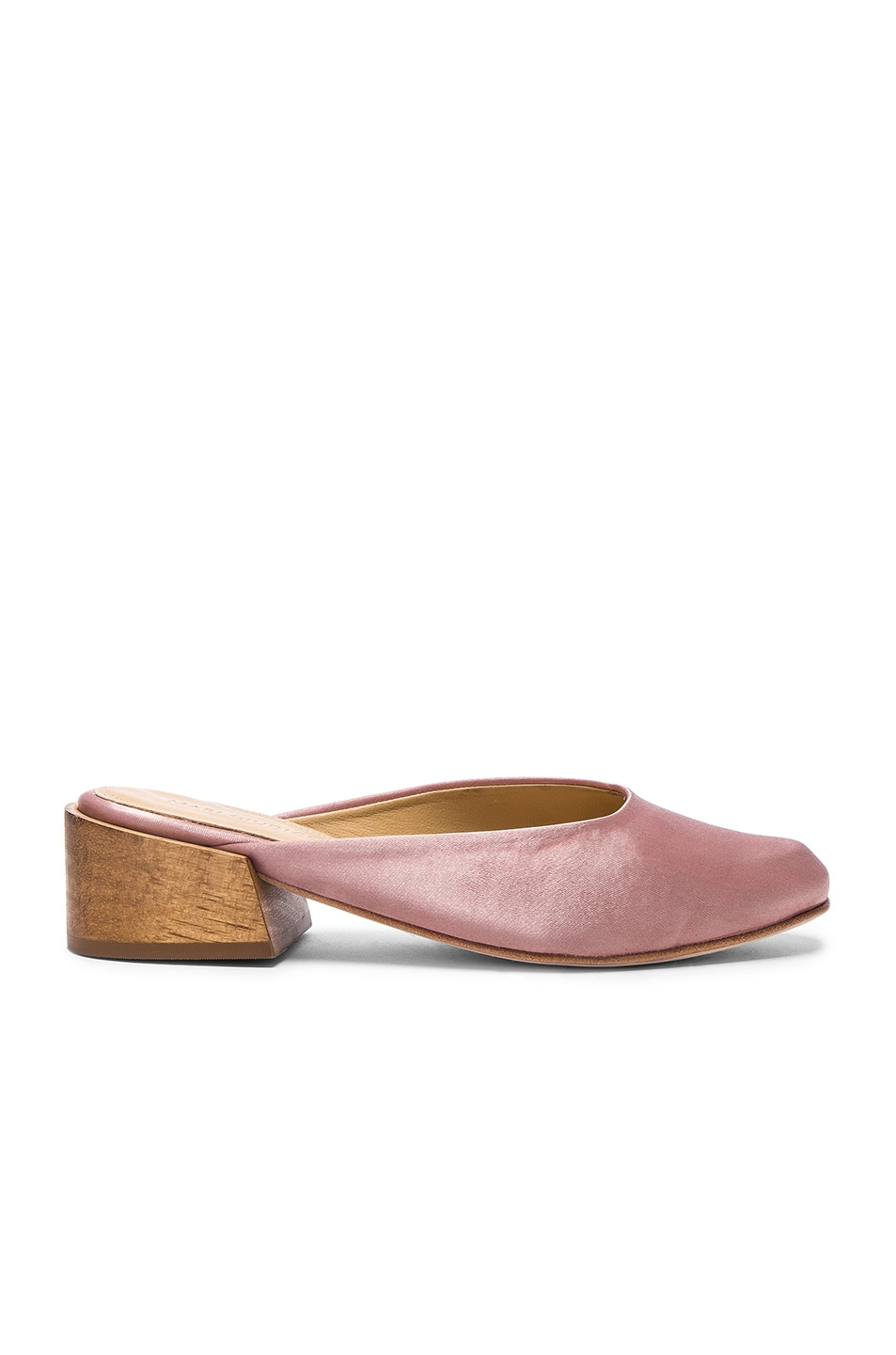 Image 1 of MARI GIUDICELLI Satin Leblon Mules in Rose Satin