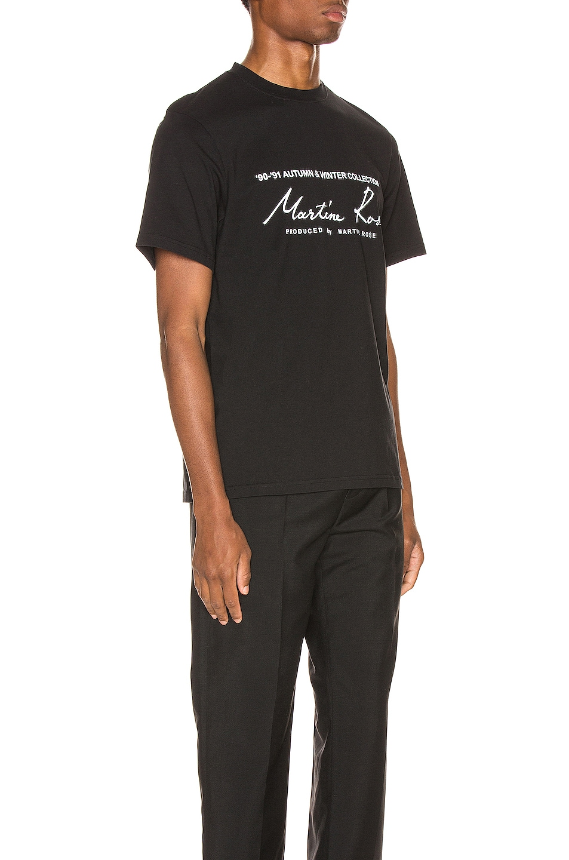 Image 2 of Martine Rose Logo Tee in Black