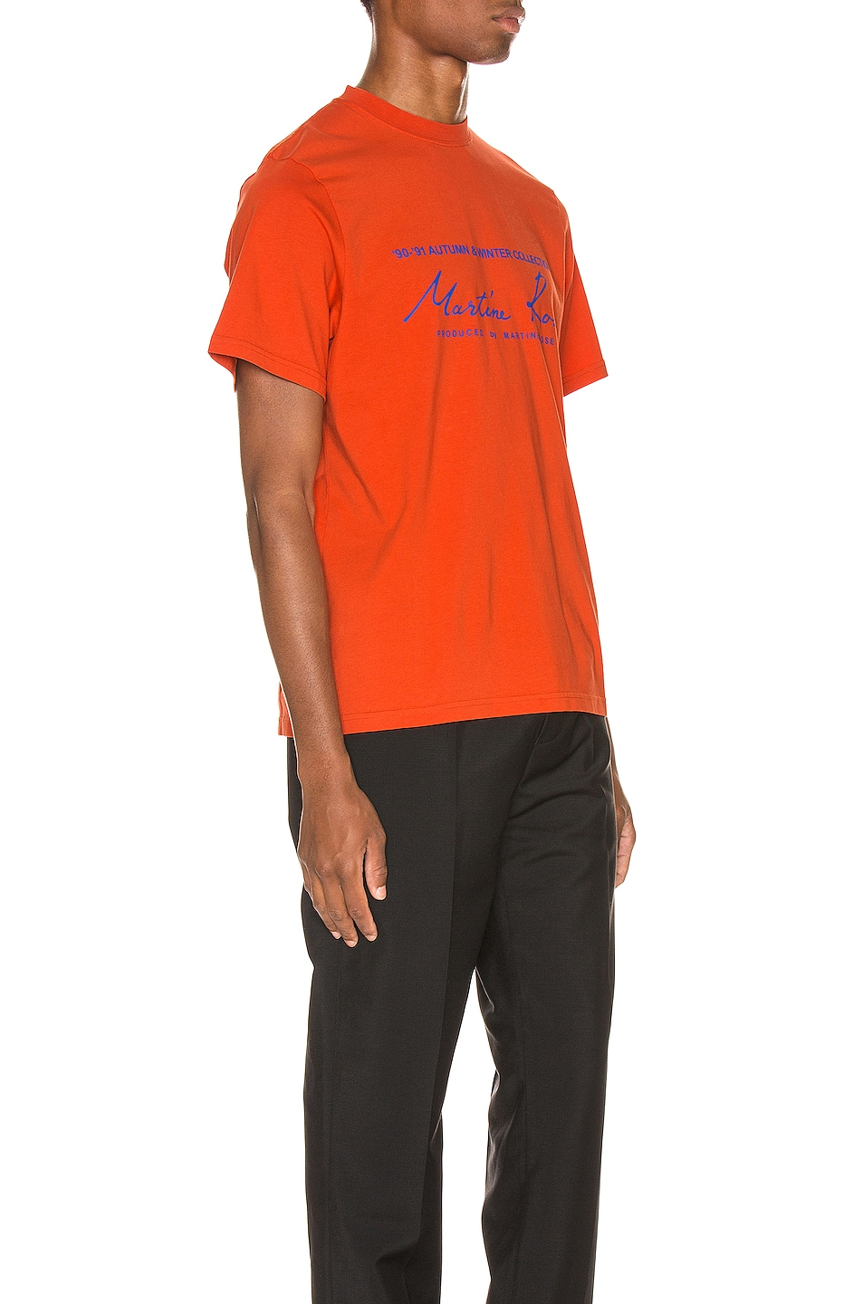 Image 2 of Martine Rose Logo Tee in Orange