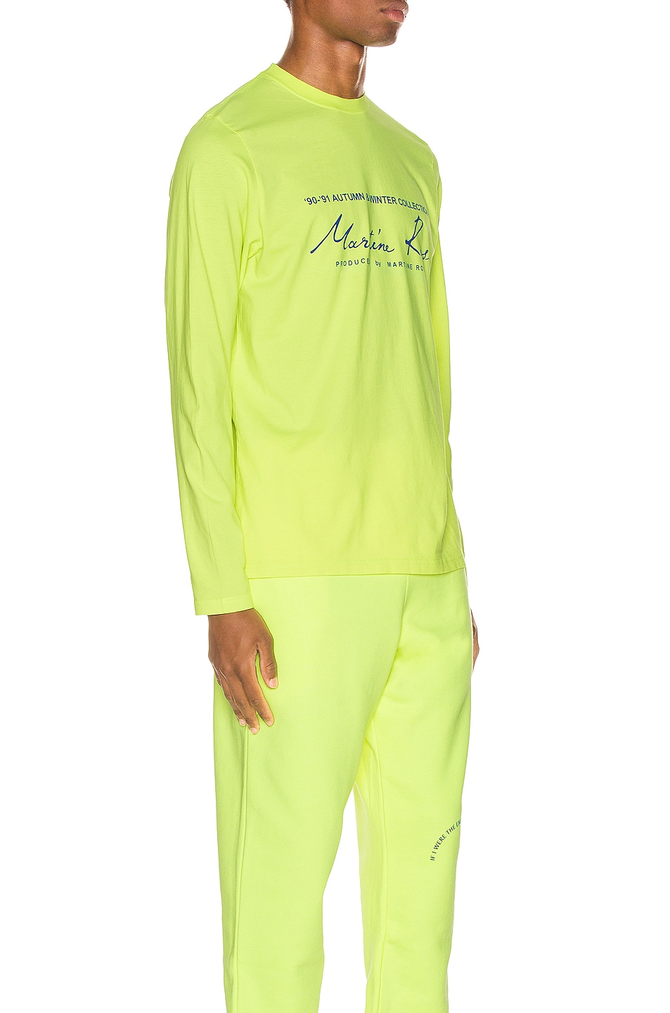 Image 2 of Martine Rose Long Sleeve Tee in in Fluoro