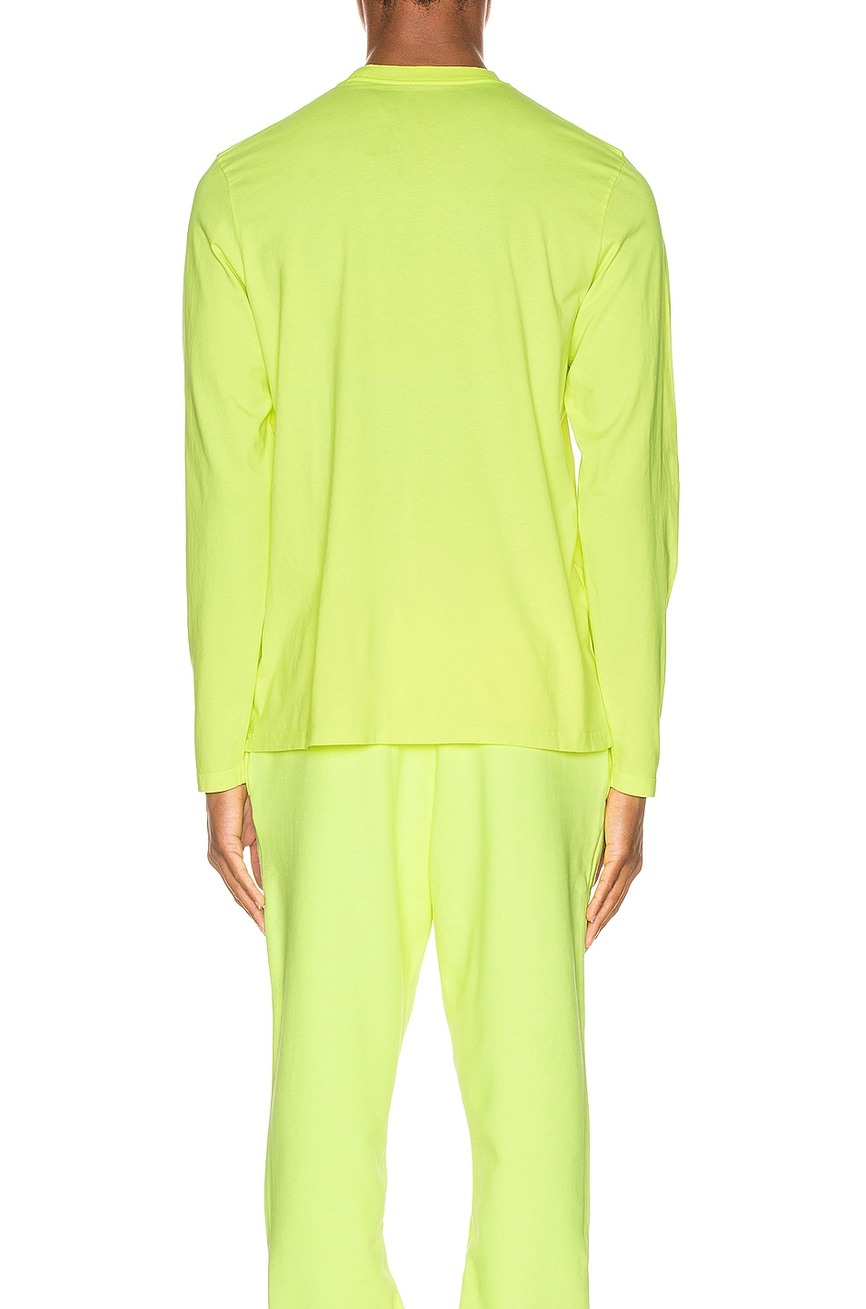 Image 3 of Martine Rose Long Sleeve Tee in in Fluoro