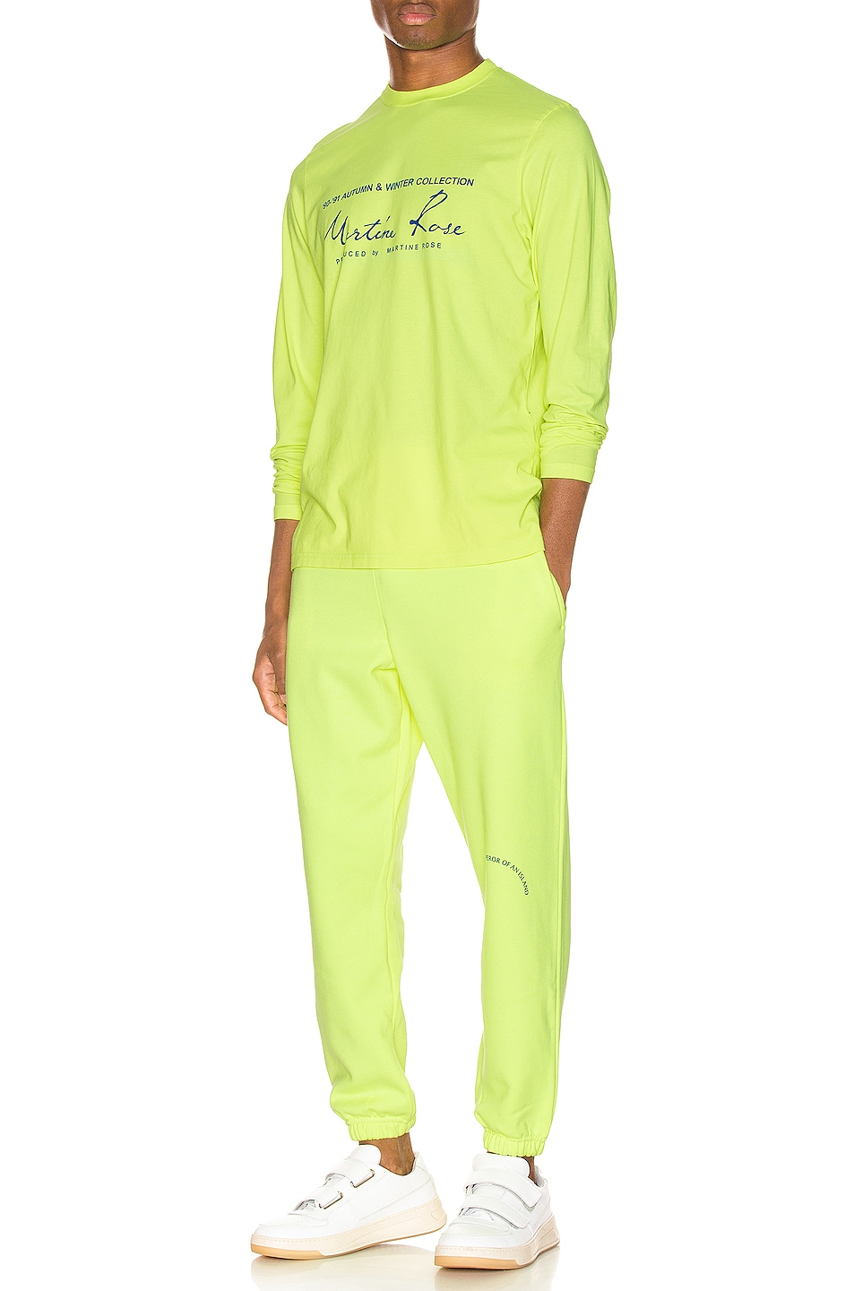 Image 4 of Martine Rose Long Sleeve Tee in in Fluoro