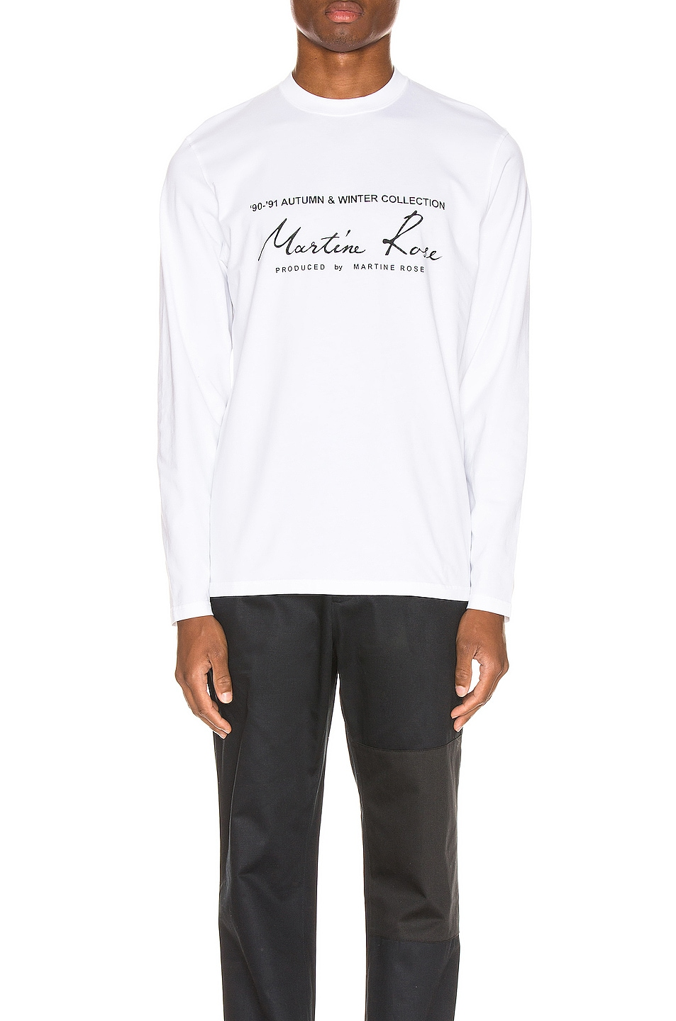 Image 1 of Martine Rose Long Sleeve Tee in White
