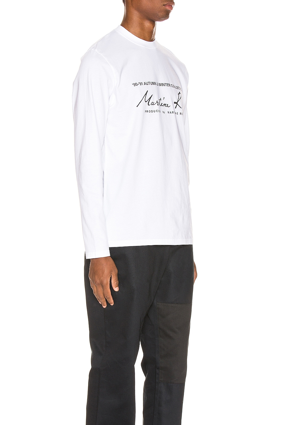 Image 2 of Martine Rose Long Sleeve Tee in White