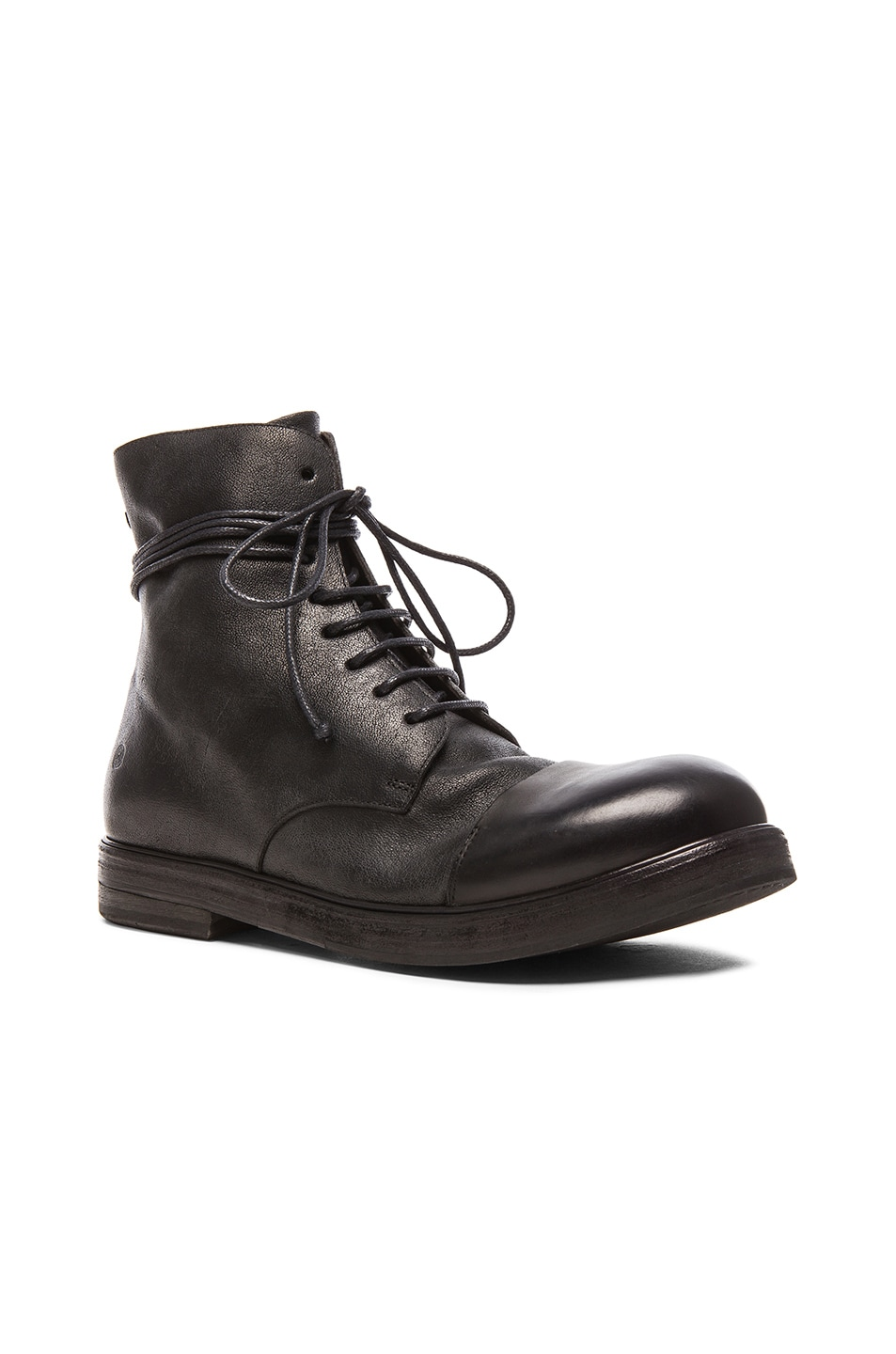 bcf32b22be4 Marsell Combat Boots in Black   FWRD