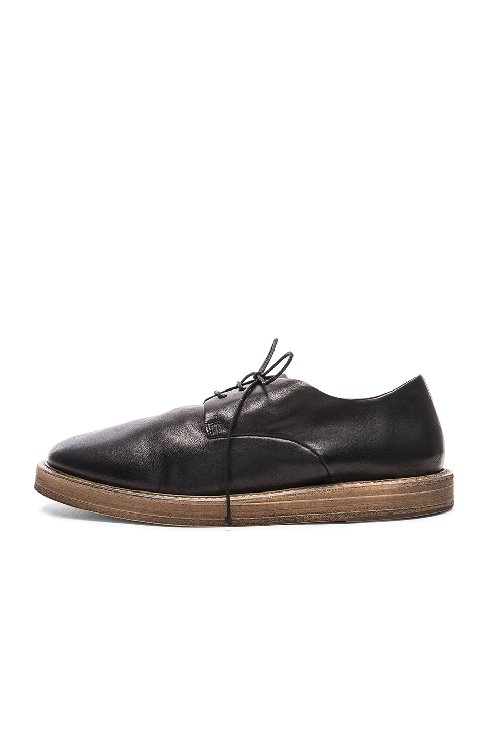 marsell wooden sole dress shoes in black fwrd
