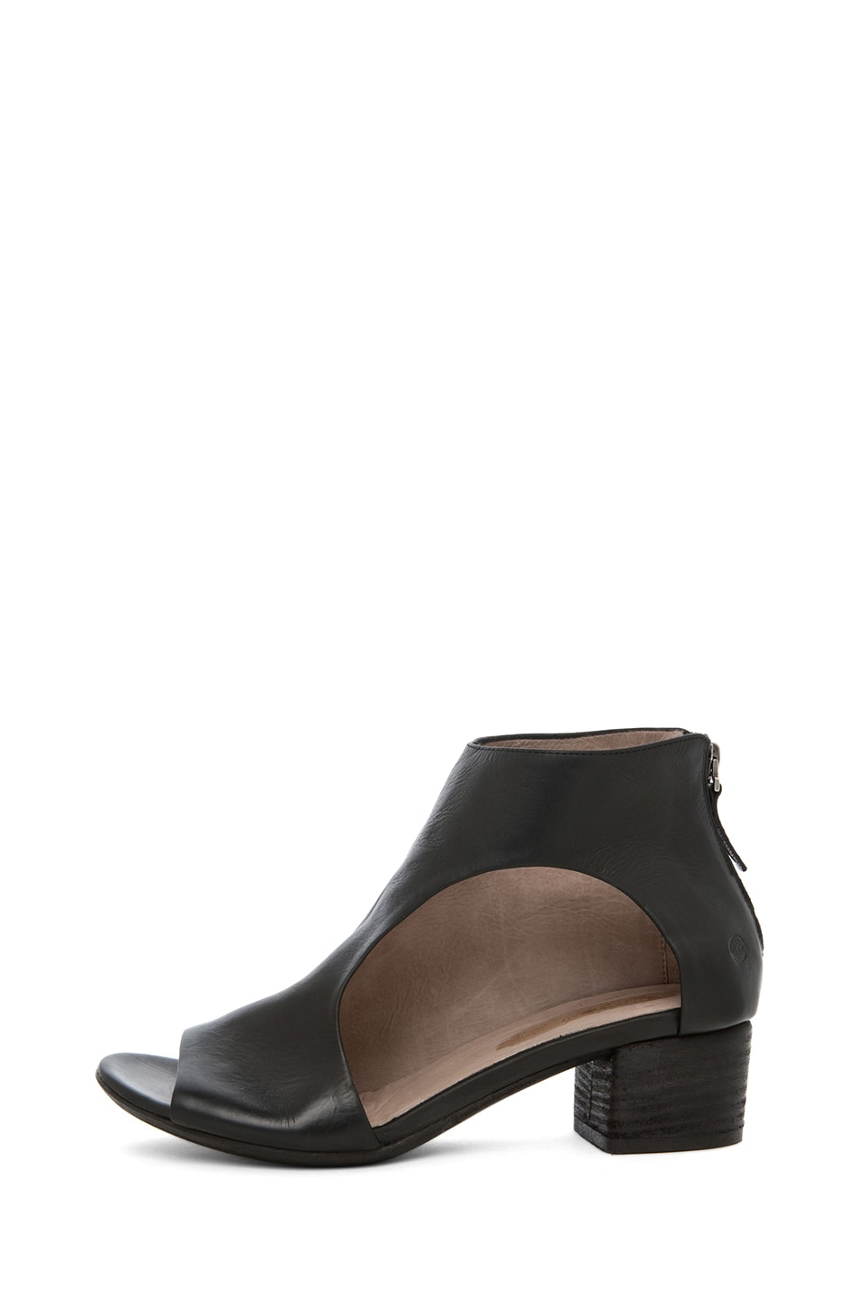 Image 1 of Marsell Bo Leather Booties in Black