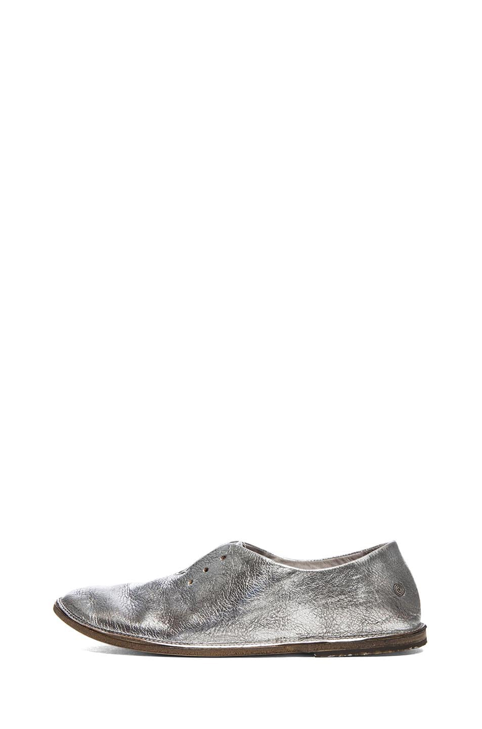 Image 1 of Marsell Strasacco Metallic Leather Oxfords in Steel