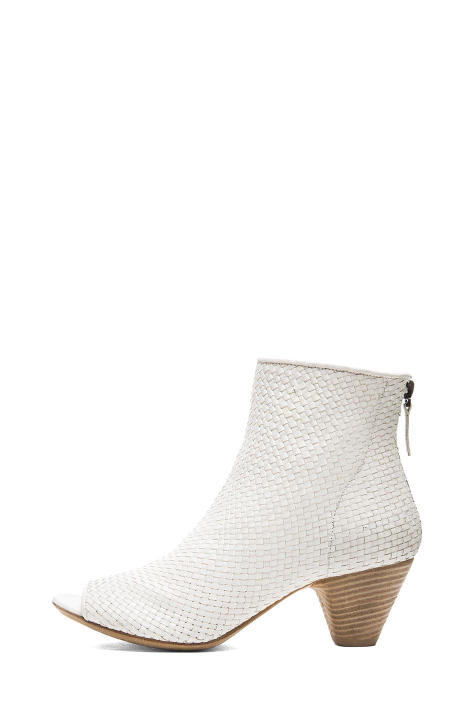 Image 1 of Marsell Neo Woven Leather Booties in White