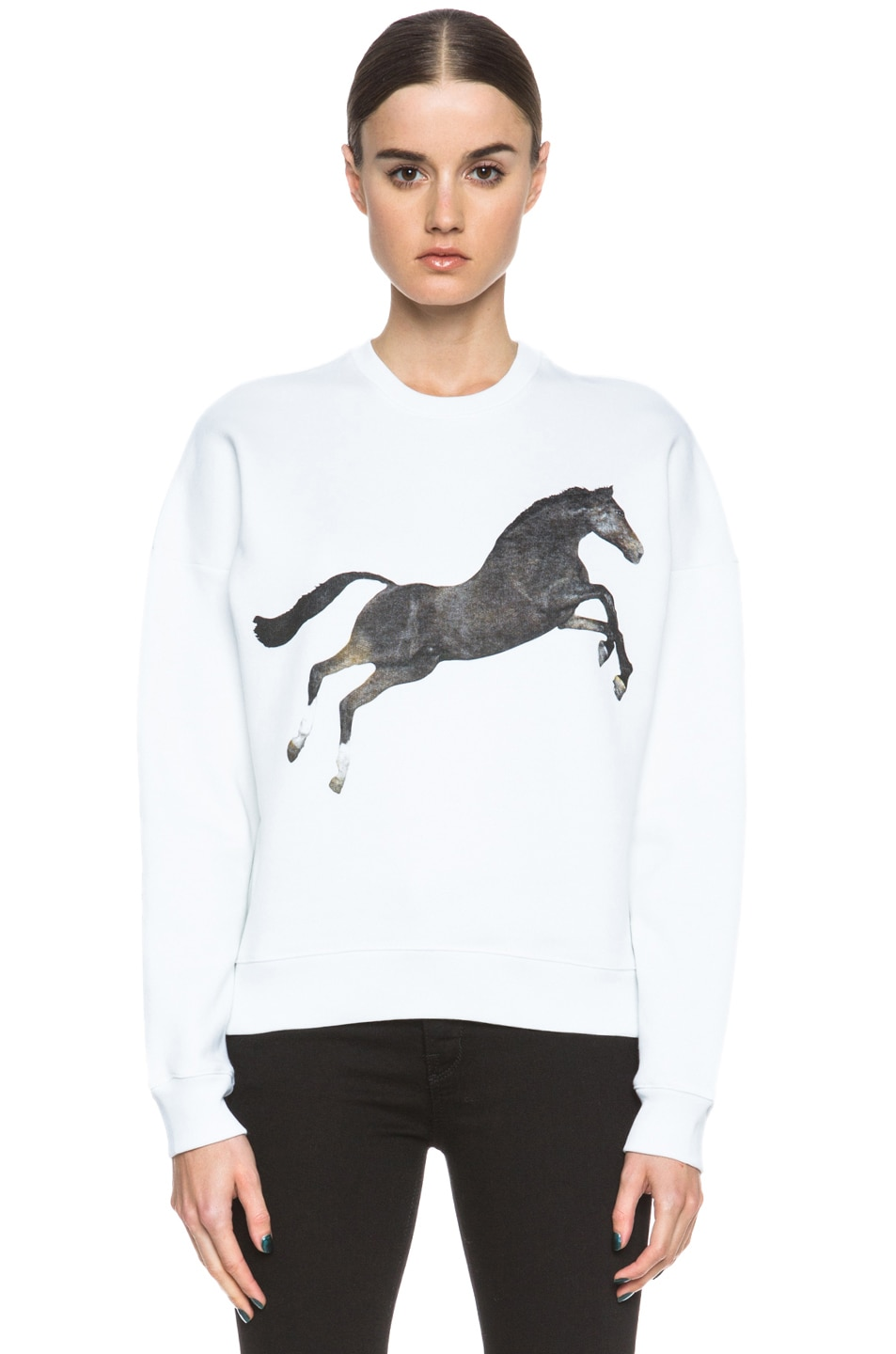Image 1 of MSGM x Toilet Paper Horse Cotton Sweatshirt in White