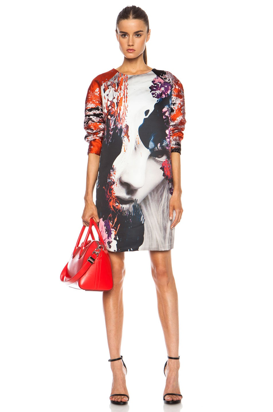 Image 1 of MSGM Dress in Red Multi