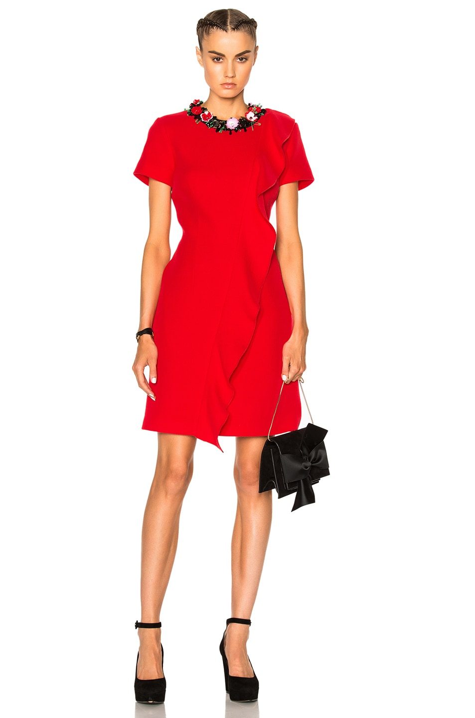 Image 1 of MSGM Ruffle Mini Dress in Red