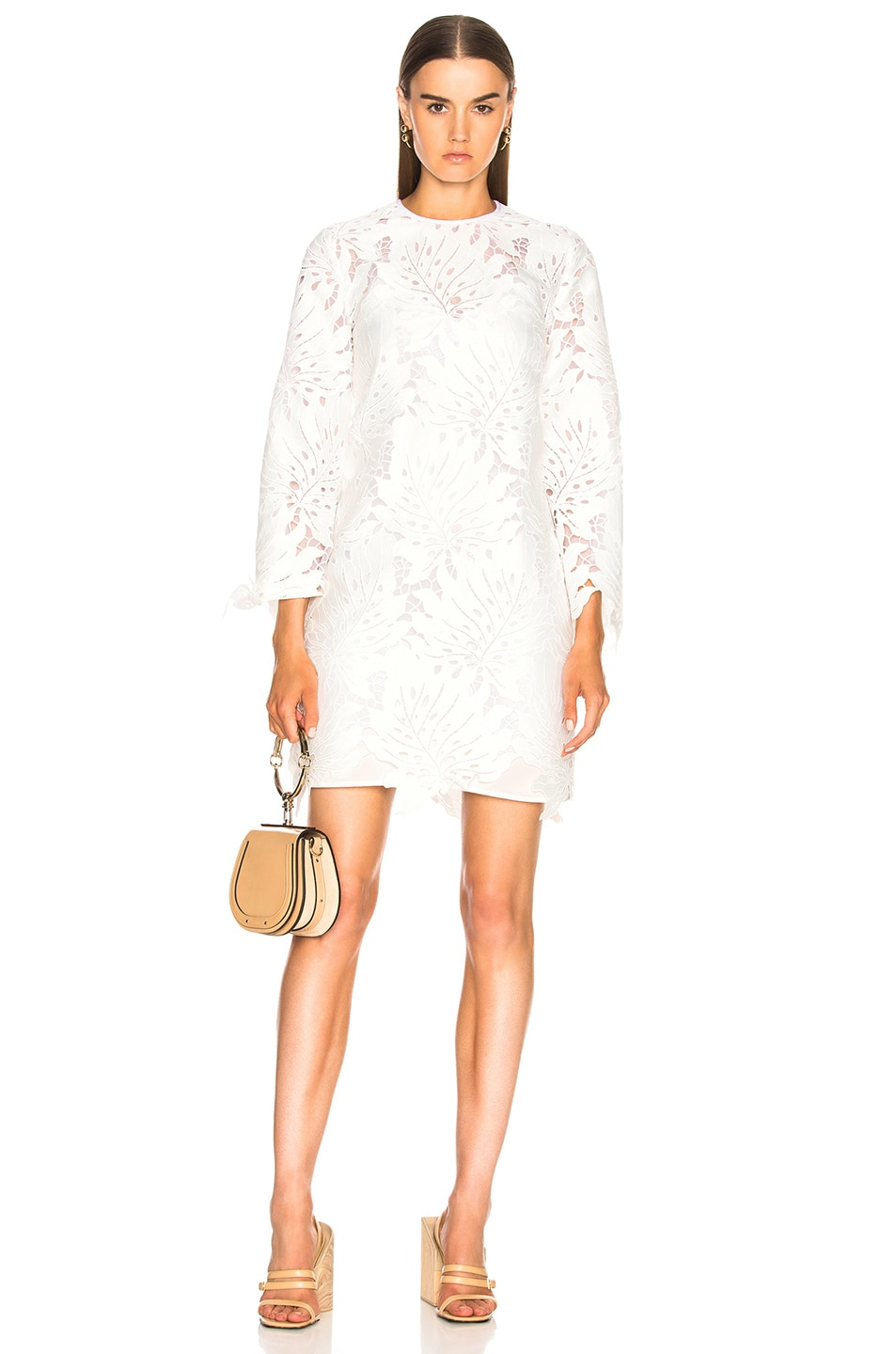Image 1 of MSGM Lace Dress in White