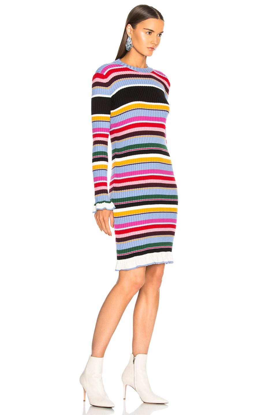 Image 2 of MSGM Striped Sweater Dress in Multicolor