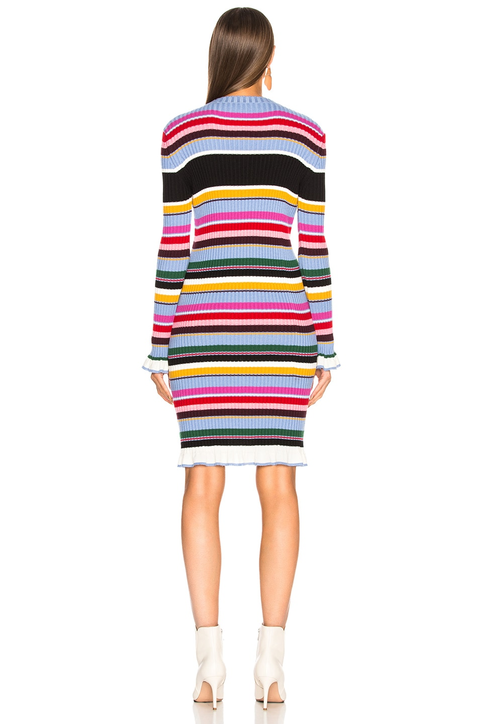 Image 3 of MSGM Striped Sweater Dress in Multicolor