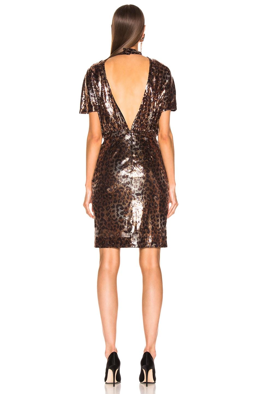 Image 4 of MSGM Animalier Dress in Gold & Black Leopard Print