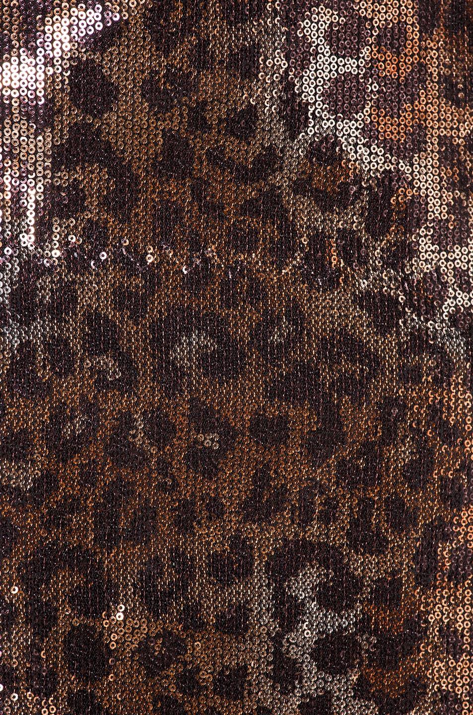 Image 5 of MSGM Animalier Dress in Gold & Black Leopard Print