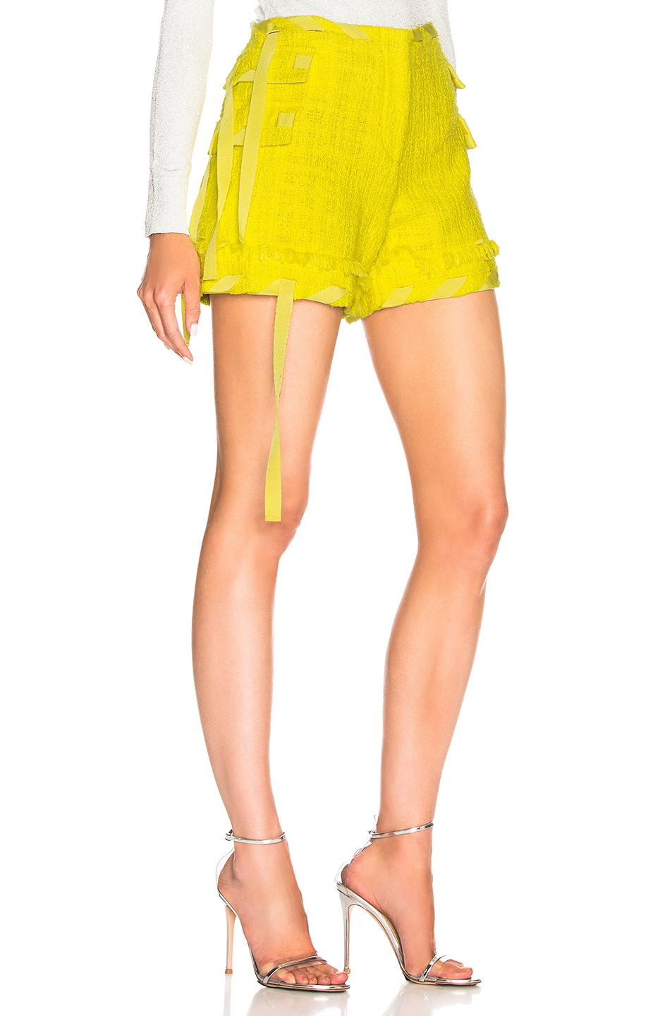Image 2 of MSGM Tweed Short in Yellow