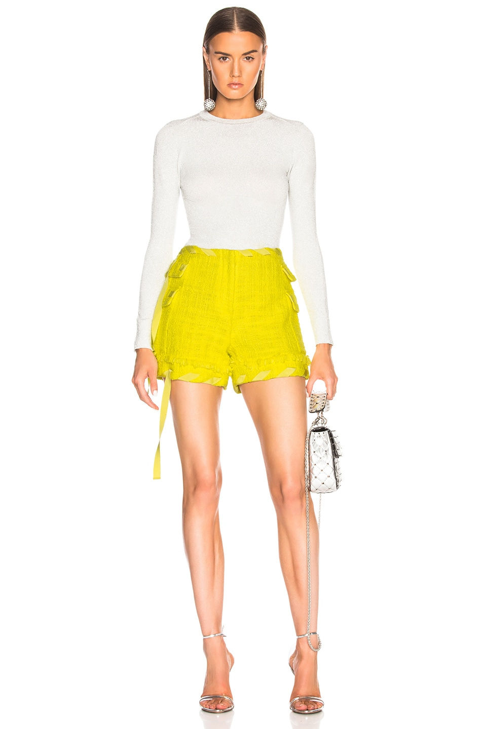 Image 4 of MSGM Tweed Short in Yellow