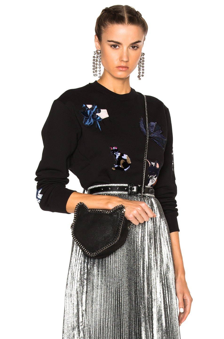 Image 1 of MSGM Embroidered Sweater in Black