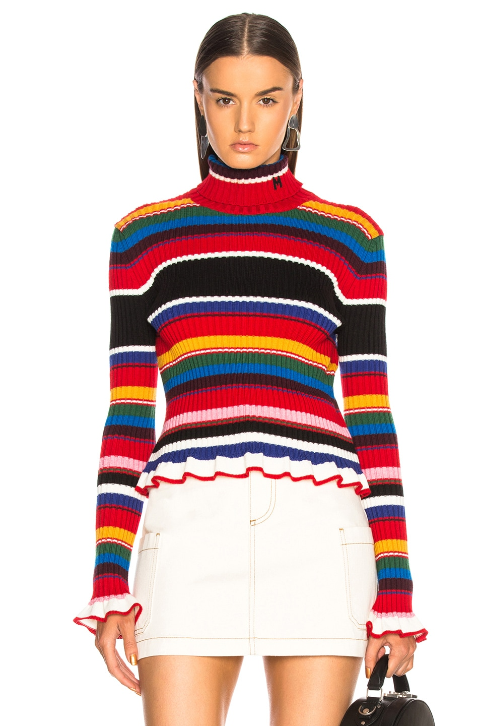 Image 1 of MSGM Striped Sweater in Multicolor