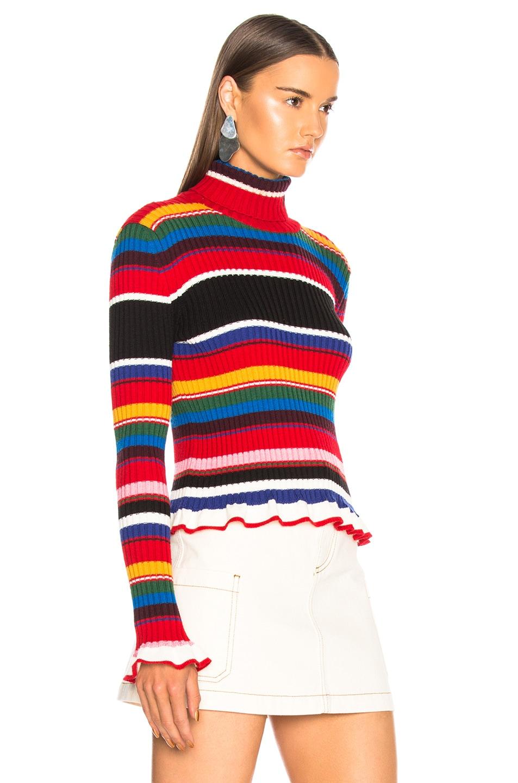 Image 2 of MSGM Striped Sweater in Multicolor