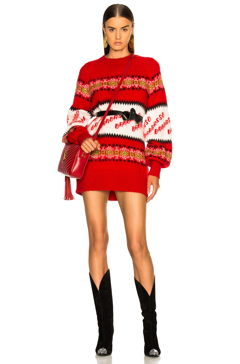 Image 1 of MSGM Crew Neck Sweater in Red Multi