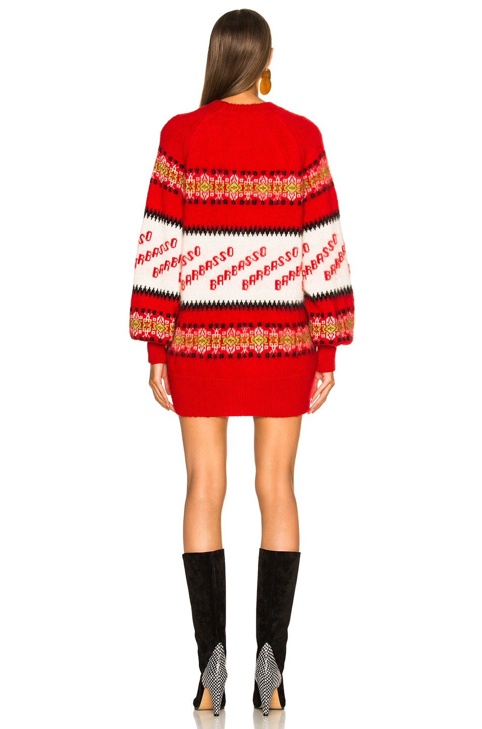 Image 4 of MSGM Crew Neck Sweater in Red Multi