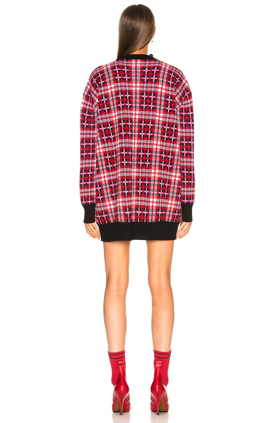 Image 3 of MSGM Checked Oversized Sweater in Multicolor