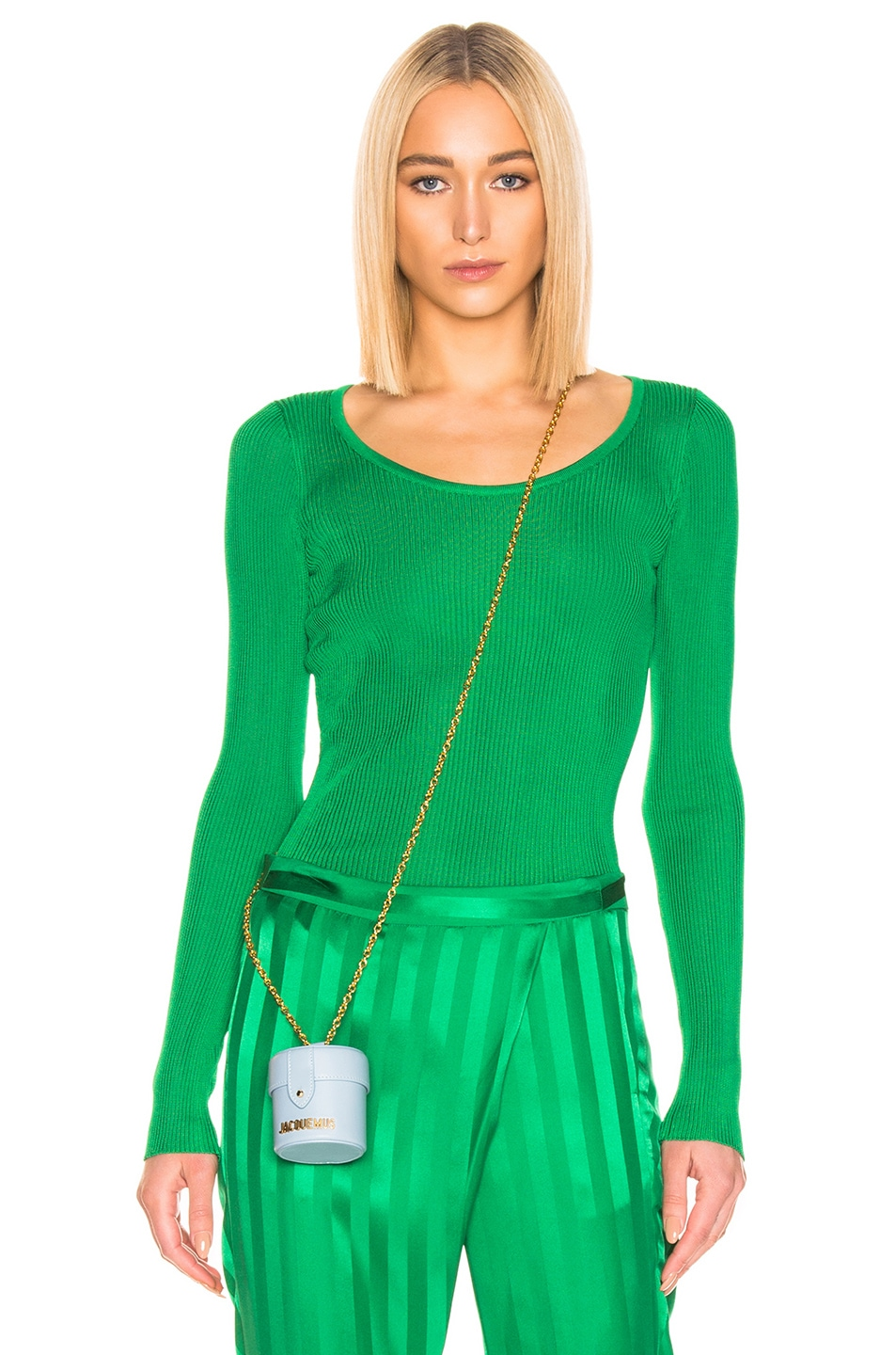 Image 1 of MSGM Long Sleeve Pullover in Green