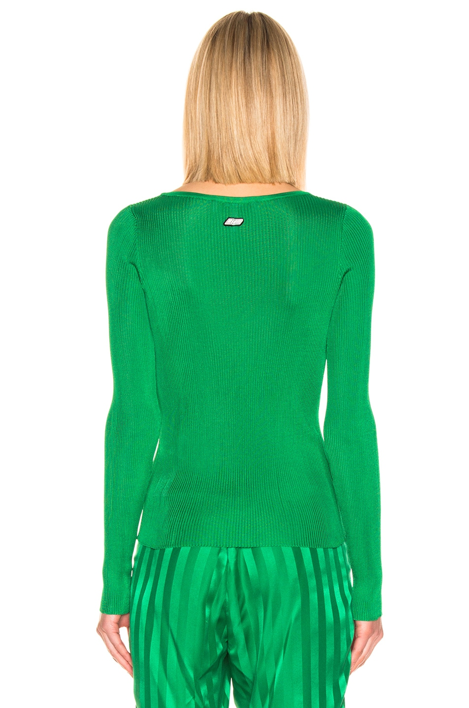 Image 3 of MSGM Long Sleeve Pullover in Green