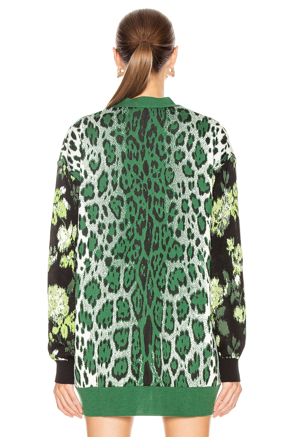 Image 4 of MSGM Leopard Floral Sweater in Green