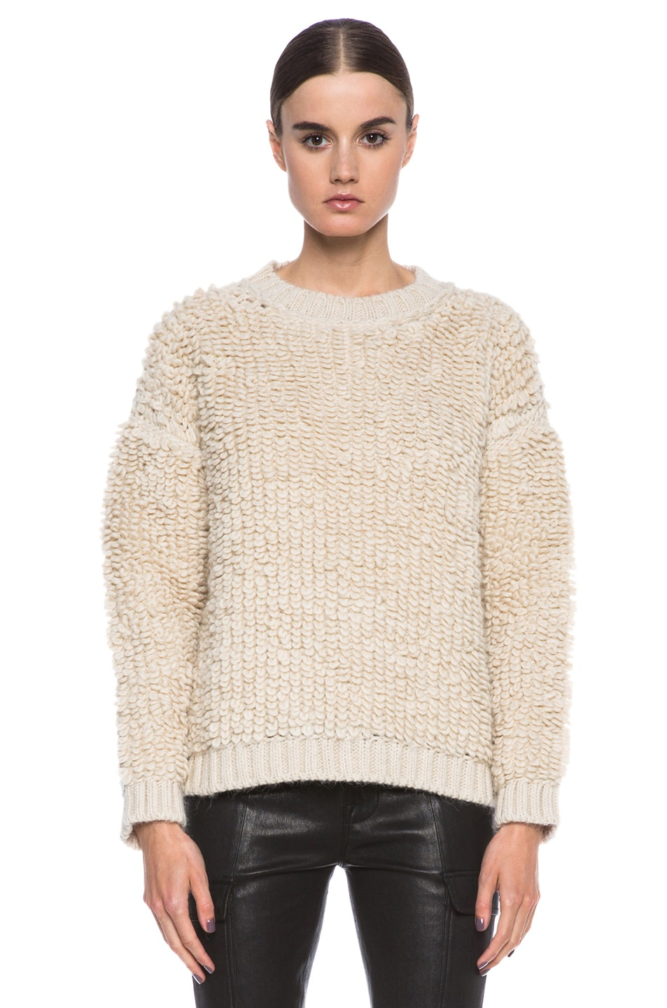 Image 1 of MSGM Knit Sweater in Cream