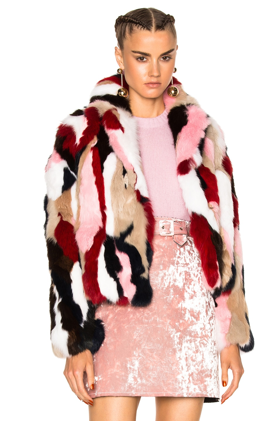 Image 1 of MSGM Fur Jacket in Multi