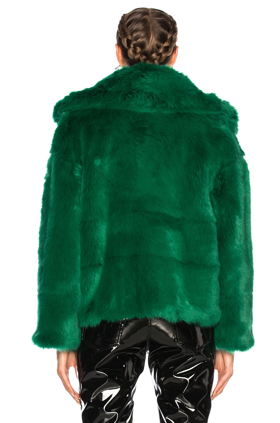 Image 4 of MSGM Faux Fur Jacket in Green