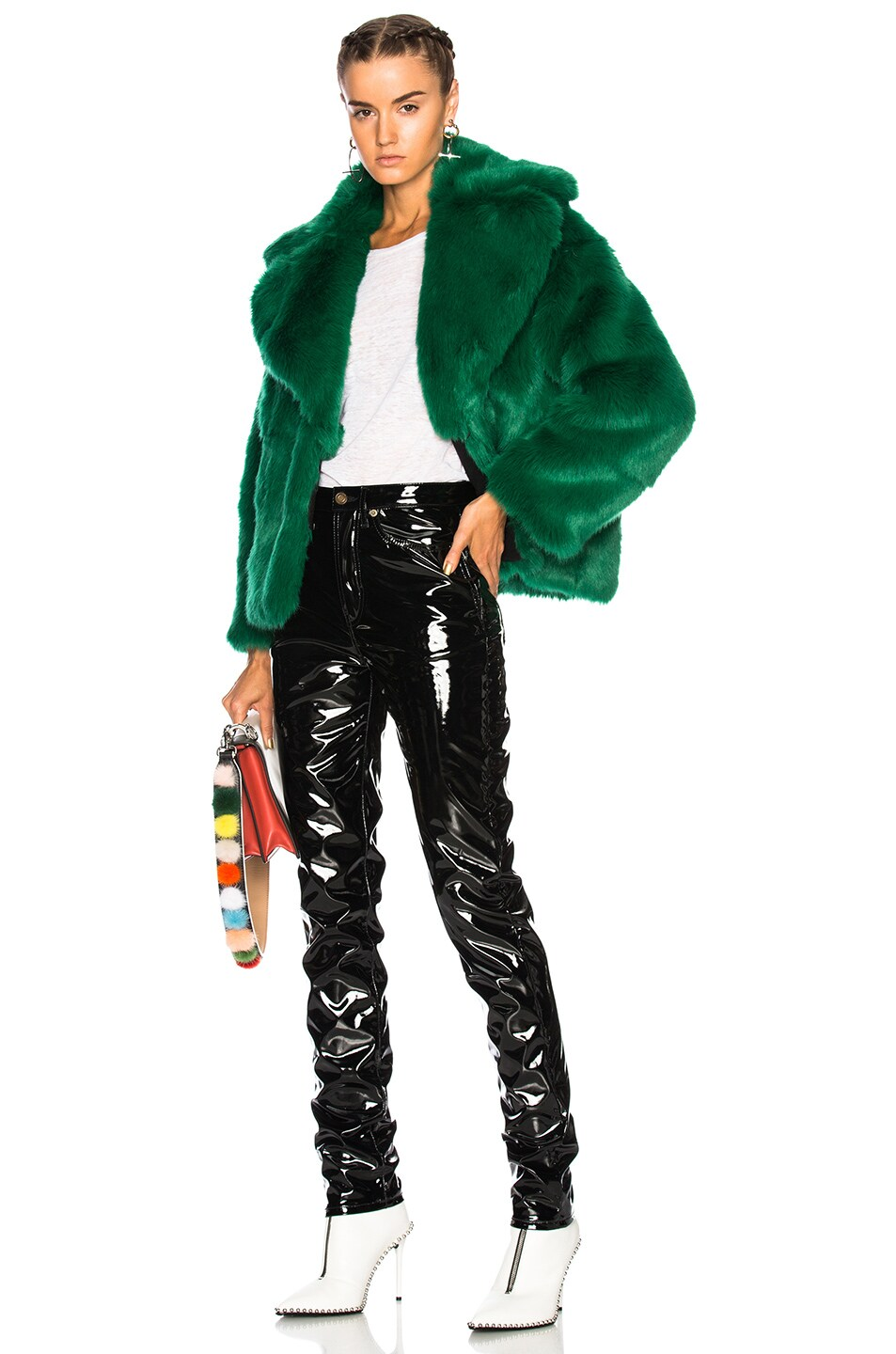 Image 5 of MSGM Faux Fur Jacket in Green