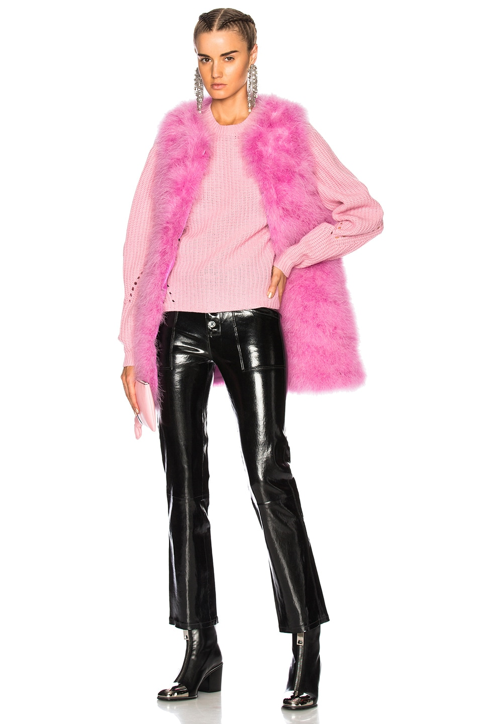 Image 5 of MSGM Ostrich Feather Coat in Pink