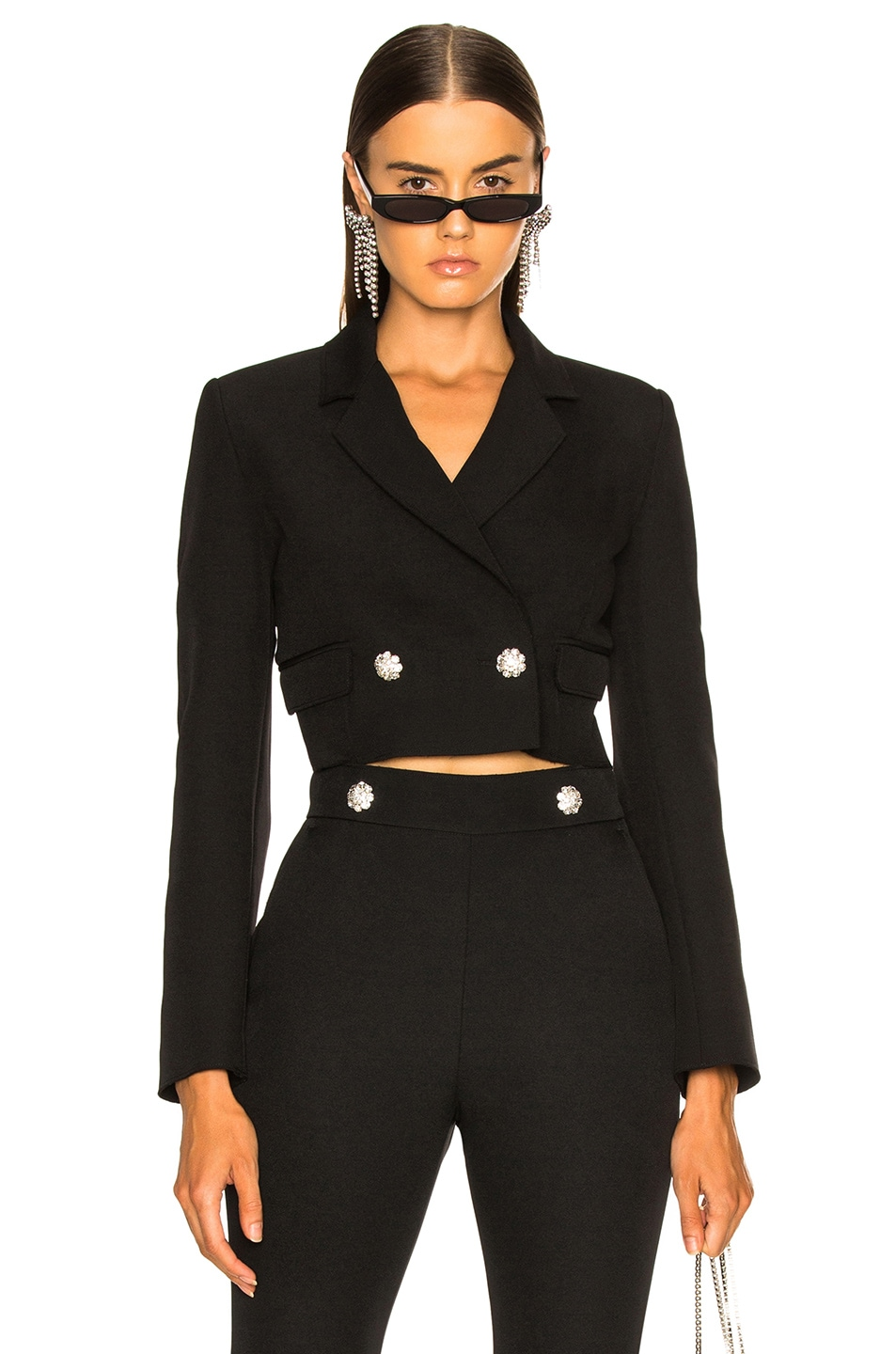 Image 1 of MSGM Cropped Cady Jacket in Black