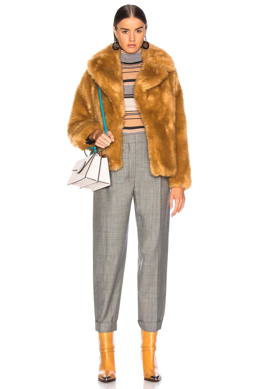 Image 5 of MSGM Faux Fur Coat in Brown