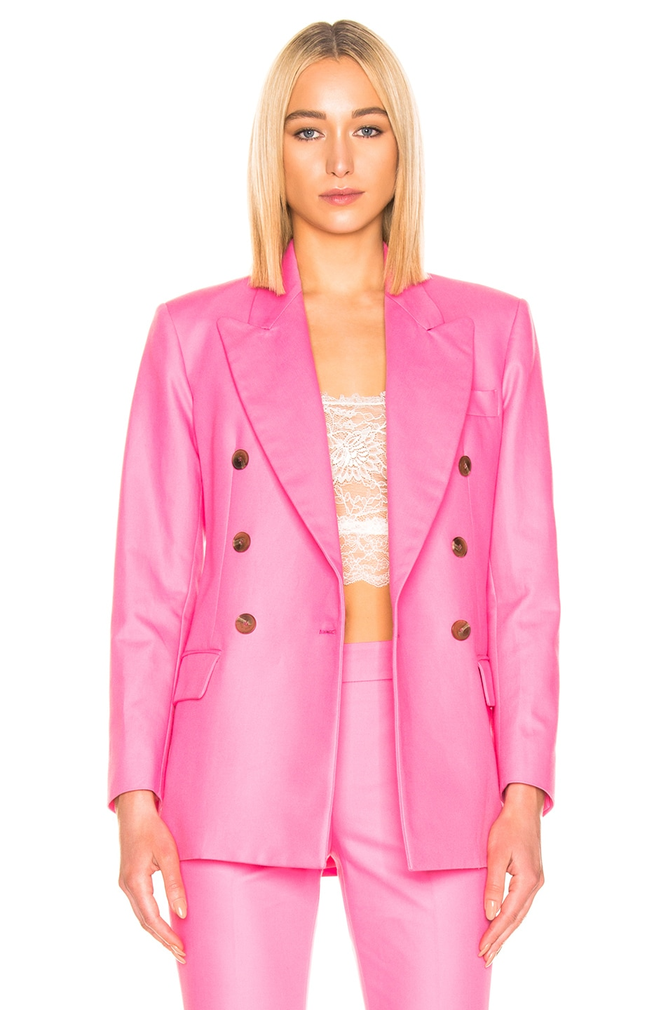 Image 2 of MSGM Blazer Jacket in Pink