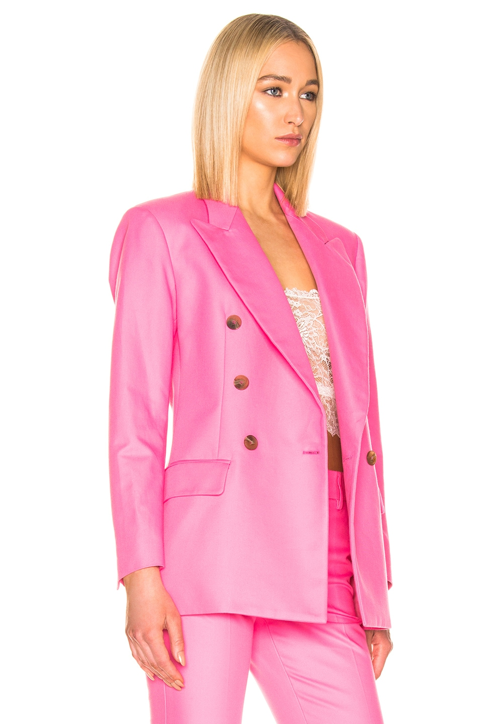 Image 3 of MSGM Blazer Jacket in Pink