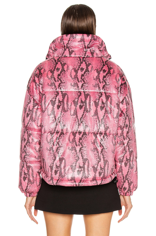Image 4 of MSGM Snake Print Jacket in Fuchsia