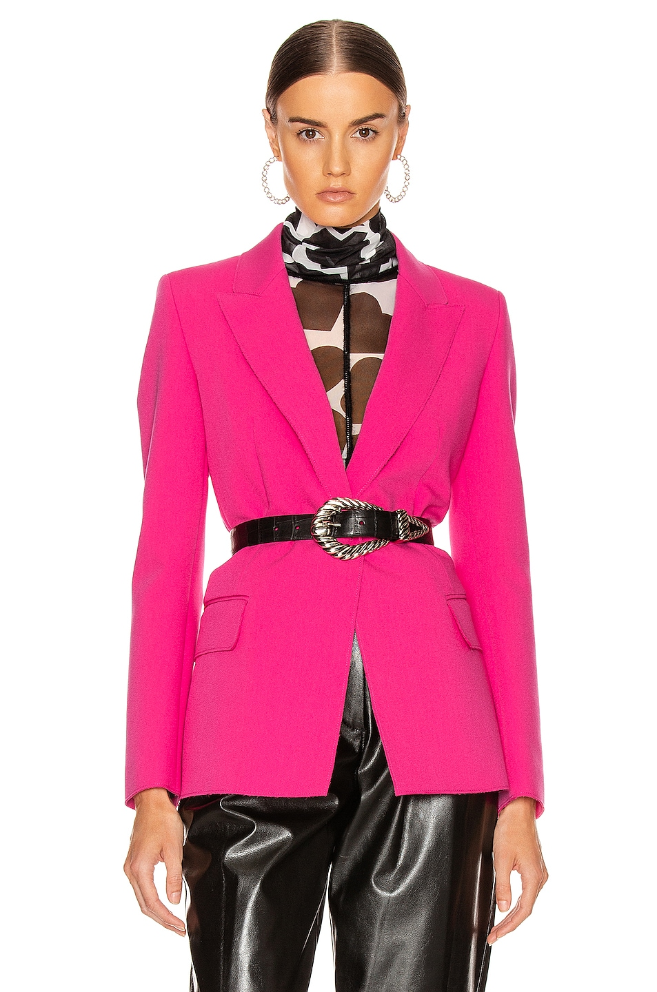 Image 1 of MSGM Blazer Jacket in Fuchsia