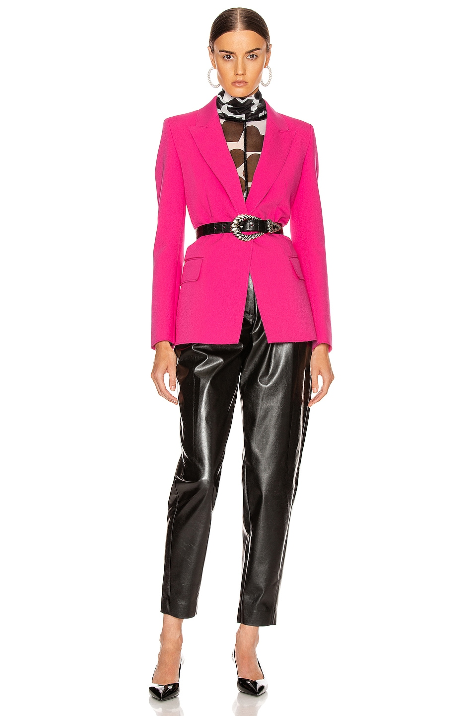 Image 5 of MSGM Blazer Jacket in Fuchsia
