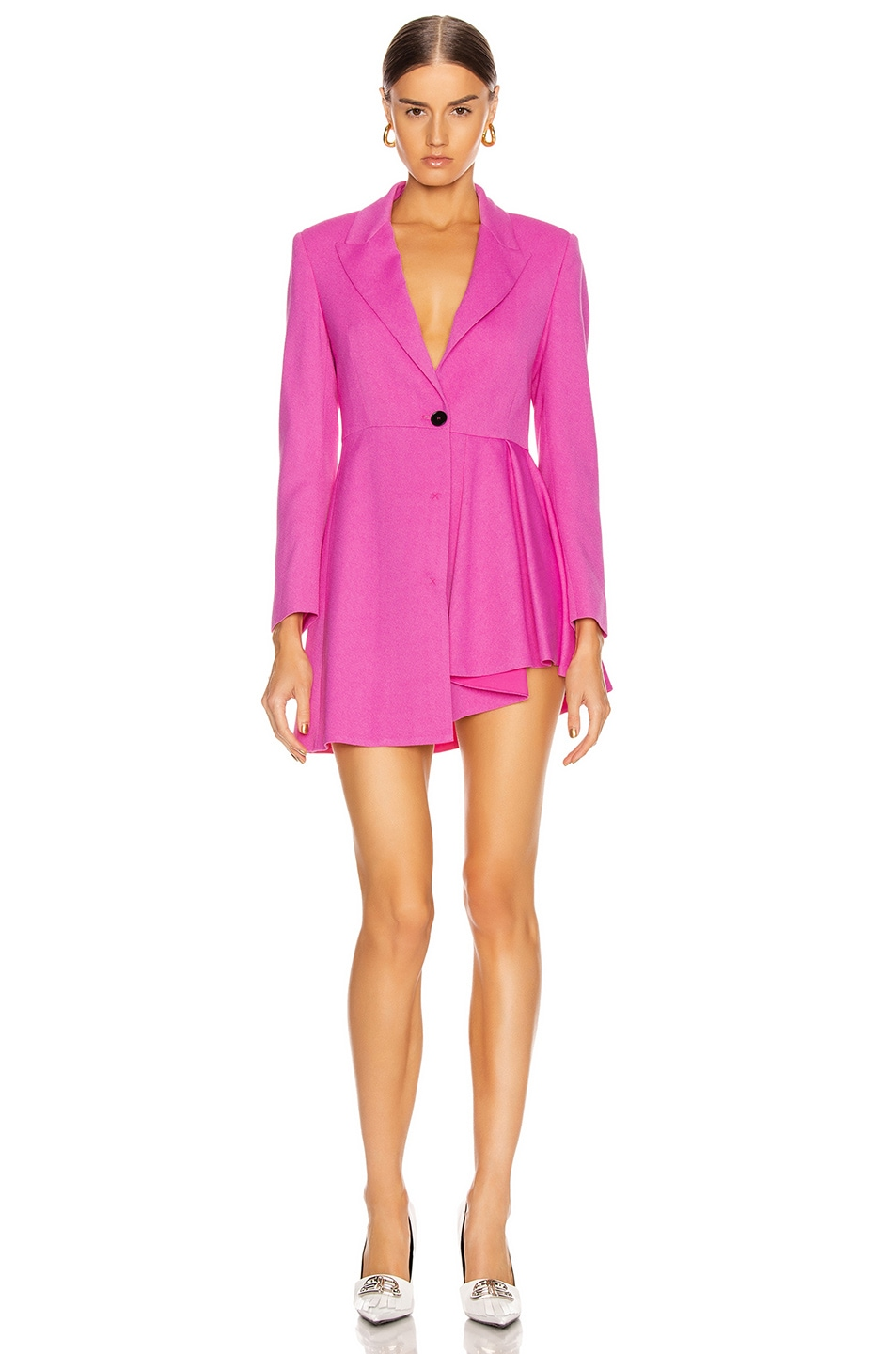 Image 1 of MSGM Pleated Blazer Jacket in Pink