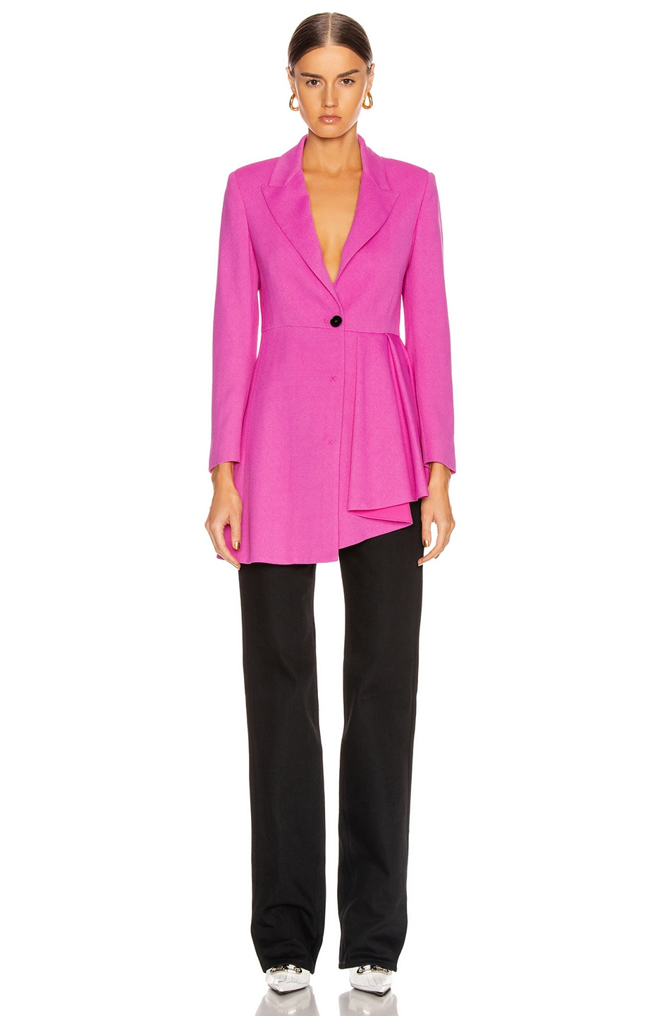 Image 2 of MSGM Pleated Blazer Jacket in Pink