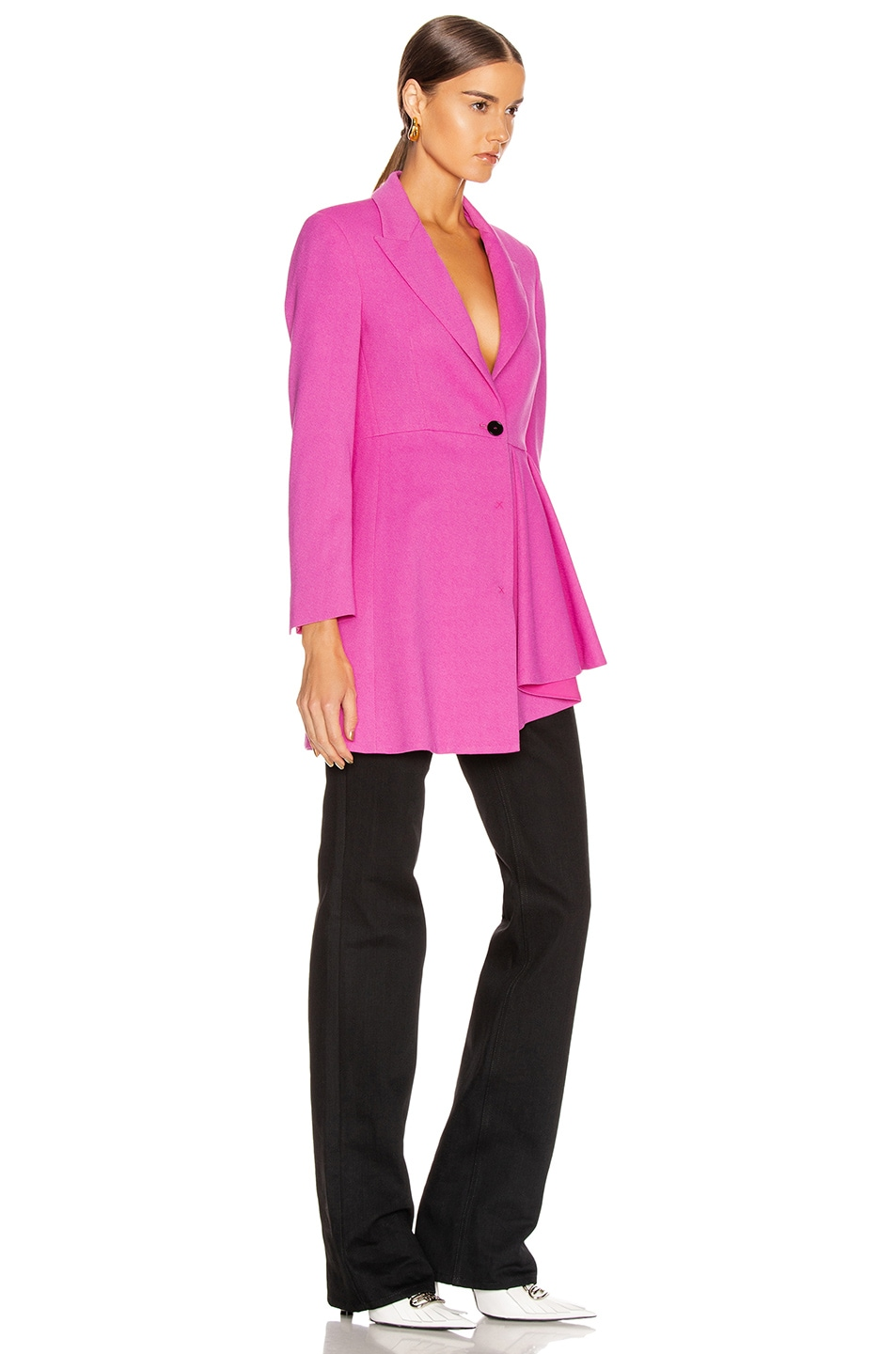 Image 3 of MSGM Pleated Blazer Jacket in Pink