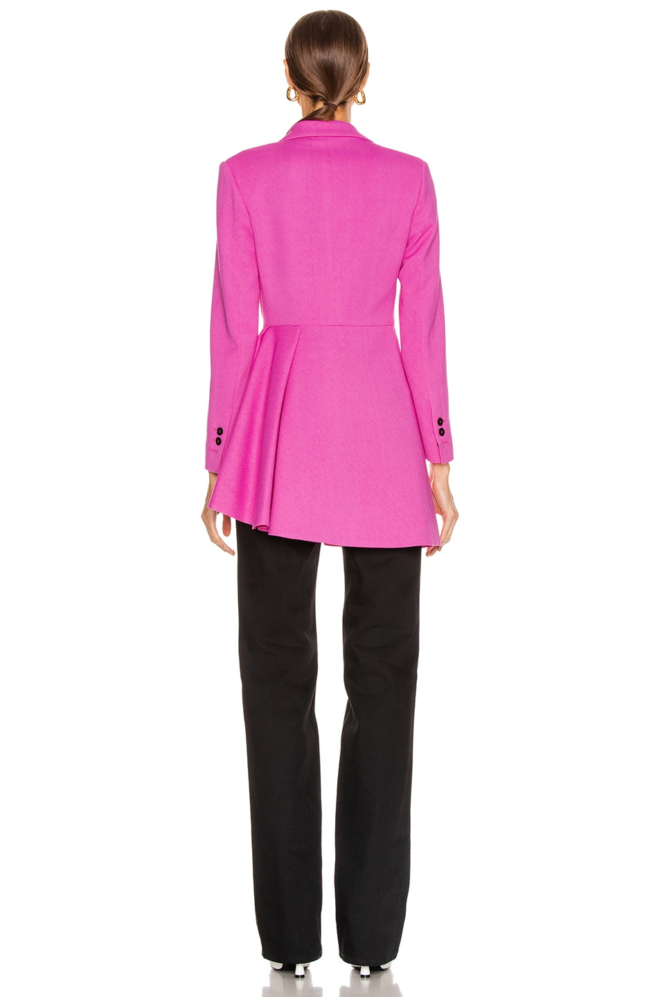 Image 5 of MSGM Pleated Blazer Jacket in Pink